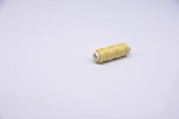 """Нитка """"GALACES"""" воскована кругла 0,55 мм. Молочна-s008"""
