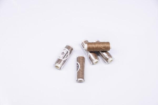"""Нитка """"GALACES"""" воскована кругла 0,55 мм. Какао-s024"""