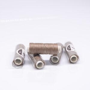 """Нитка """"GALACES"""" воскована кругла 0,55 мм. Какао-s025"""