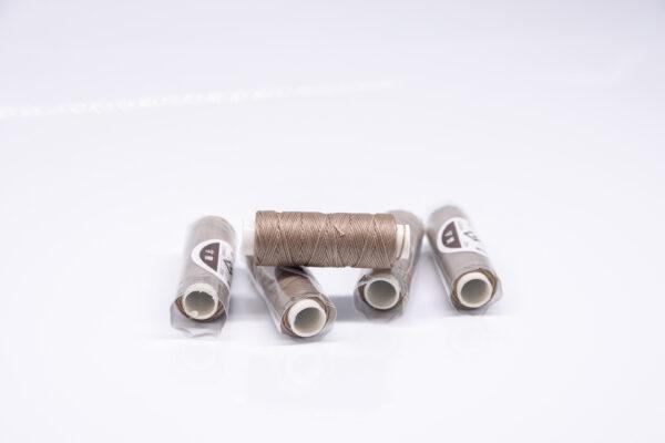 """Нить """"GALACES"""" вощеная круглая 0,55 мм. Какао-s025"""