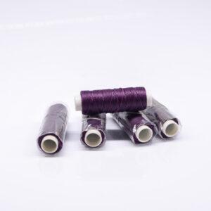 """Нитка """"GALACES"""" воскована кругла 0,55 мм. Темно-фіолетова-s047"""