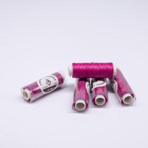 "Нитка ""GALACES"" воскована кругла 0,55 мм. Фіолетова фуксія-s053"