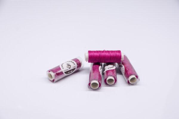 """Нить """"GALACES"""" вощеная круглая 0,55 мм. Фиолетовая фуксия-s053"""
