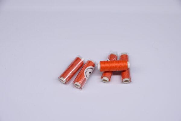 """Нить """"GALACES"""" вощеная круглая 0,55 мм. Морковная-s060"""