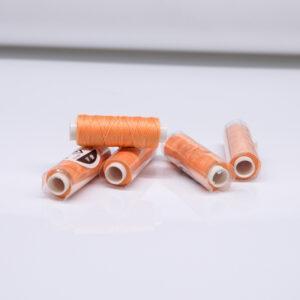 """Нитка """"GALACES"""" воскована кругла 0,55 мм. Морквяна-s061"""