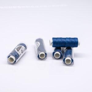 """Нитка """"GALACES"""" воскована кругла 0,55 мм. Синя-s075"""