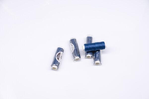 """Нить """"GALACES"""" вощеная круглая 0,55 мм. Синяя-s075"""