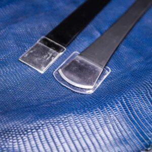 Набор ножей с металлической ручкой по коже-1082-2