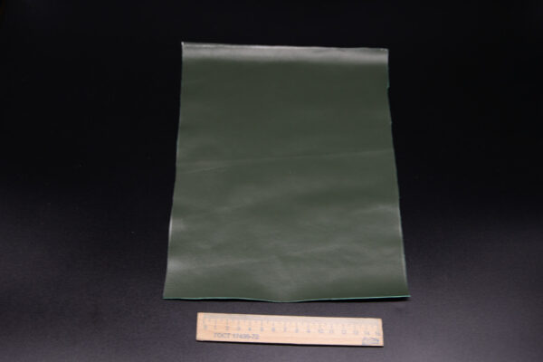 Лоскут кожи (размер А4), цвет - темно зеленый Т-104