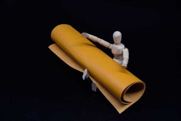 Лоскут кожи (размер А4), цвет - желтый Т-115