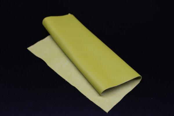 Лоскут кожи (размер А4), цвет - салатовый Т-122
