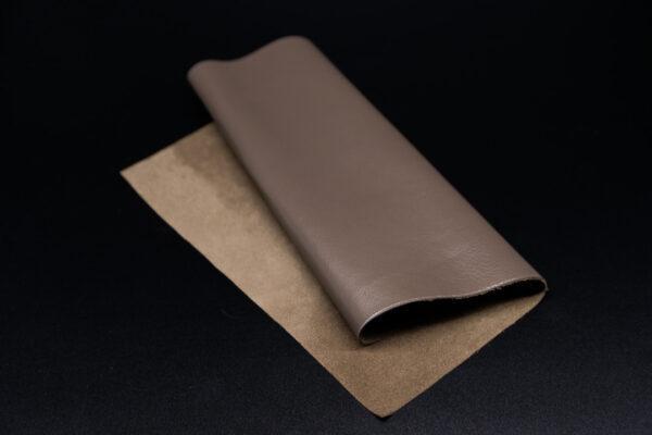 Лоскут кожи (размер А4), цвет - кофе с молоком Т-118