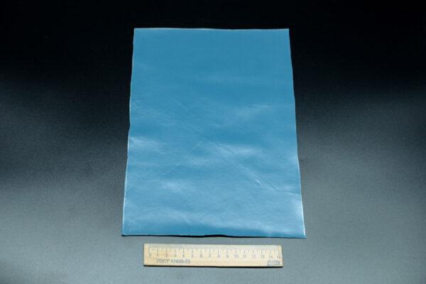 Лоскут кожи (размер А4), цвет - синий Т-105