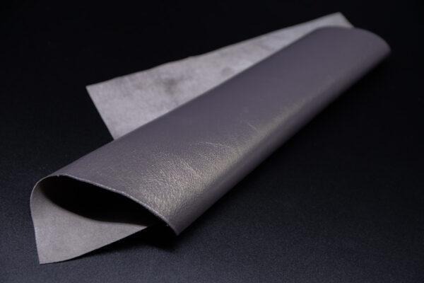 Лоскут кожи (размер А4), цвет - серо-сиреневый жемчуг Т-107