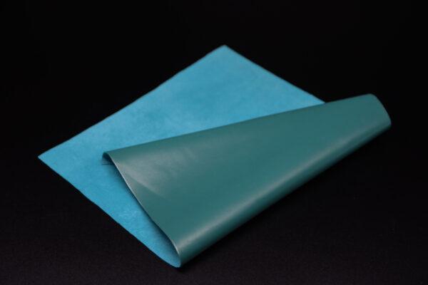 Лоскут кожи (размер А4), цвет - бирюзовый Т-112