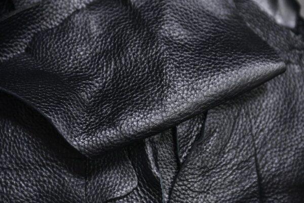 Кожа КРС флотар, обрезки, черная - 1 кг
