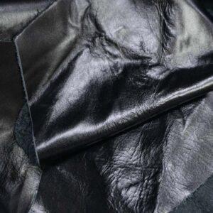 Кожа КРС, обрезки, черная гладкая - 1 кг