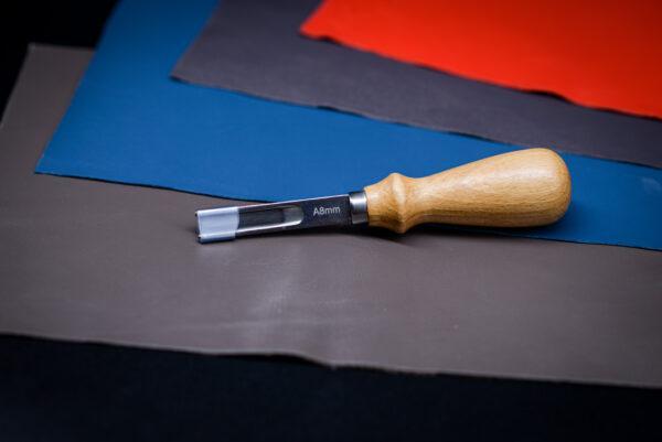 Фаскорез широкий (8 мм) для прорезания канавок иснятия фаски кожи -1094-n8