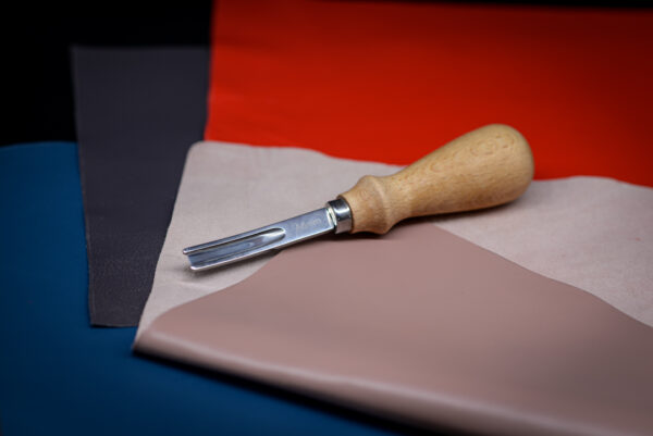 Фаскорез широкий (6 мм) для прорезания канавок иснятия фаски кожи -1094-n6