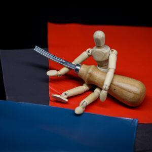 Фаскорез широкий (4 мм) для прорезания канавок иснятия фаски кожи -1094-n4