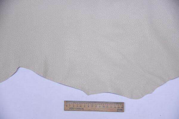 Кожподклад свиной (спилок) вощёный, светло-бежевый, 91 дм2.-PT1-150