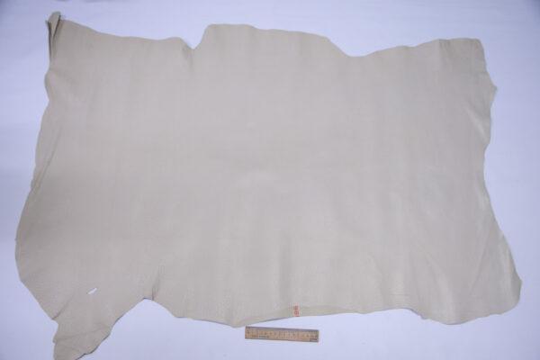 Кожподклад свиной (спилок) вощёный, светло-бежевый, 86 дм2.-PT1-151