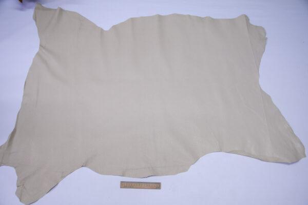 Кожподклад свиной (спилок) вощёный, светло-бежевый, 90 дм2.-PT1-152