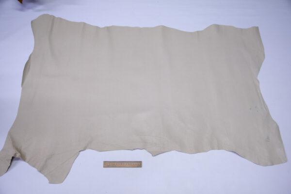 Кожподклад свиной (спилок) вощёный, светло-бежевый, 82 дм2.-PT1-153