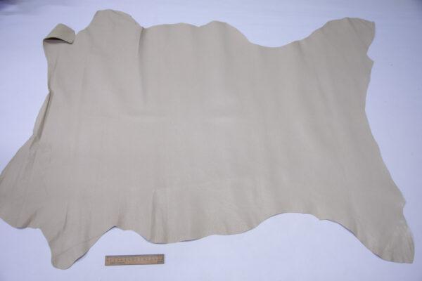 Кожподклад свиной (спилок) вощёный, светло-бежевый, 84 дм2.-PT1-154