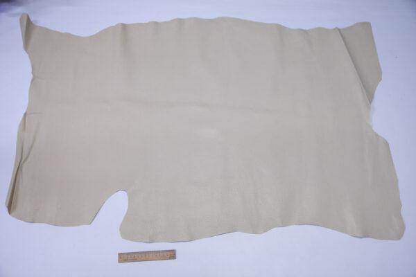 Кожподклад свиной (спилок) вощёный, светло-бежевый, 87 дм2.-PT1-155