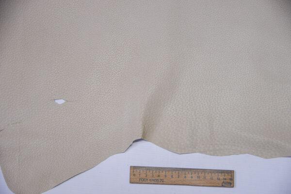 Кожподклад свиной (спилок) вощёный, светло-бежевый, 88 дм2.-PT1-156