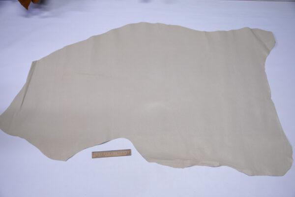 Кожподклад свиной (спилок) вощёный, светло-бежевый, 75 дм2.-PT1-157