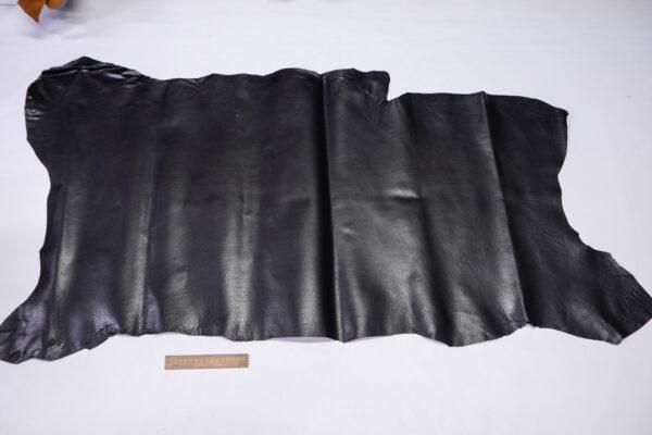 Кожподклад свиной (спилок) вощёный, черный, 74 дм2.-PT1-158