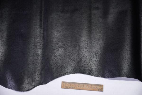 Кожподклад свиной (спилок) вощёный, черный, 69 дм2.-PT1-159