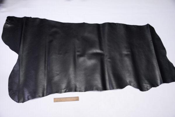 Кожподклад свиной (спилок) вощёный, черный, 62 дм2.-PT1-160