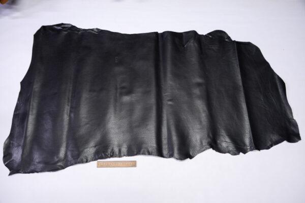 Кожподклад свиной (спилок) вощёный, черный, 74 дм2.-PT1-161