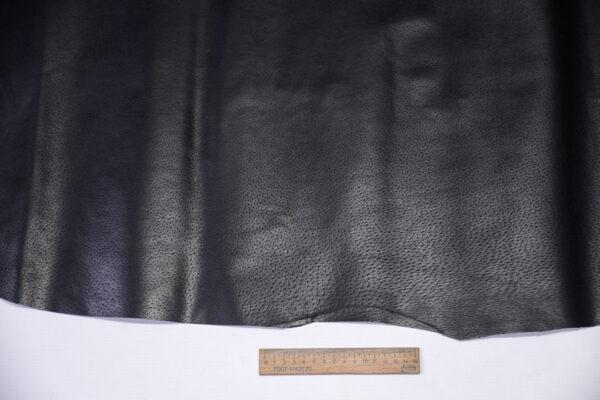 Кожподклад свиной (спилок) вощёный, черный, 66 дм2.-PT1-162