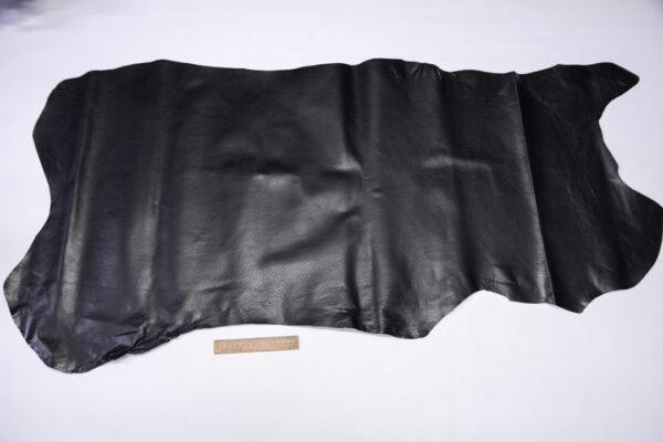 Кожподклад свиной (спилок) вощёный, черный, 74 дм2.-PT1-163