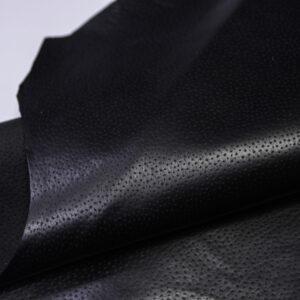Кожподклад свиной (спилок) вощёный, черный, 71 дм2.-PT1-164