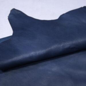 Кожа теленка краст, синяя, 62 дм2.-110698