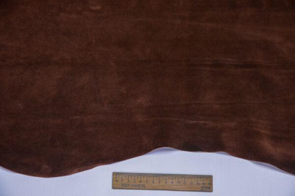 Замша КРС, коричневая, 65 дм2.-110702