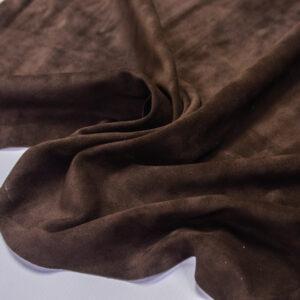 Замша КРС, коричневая, 49 дм2.-110703