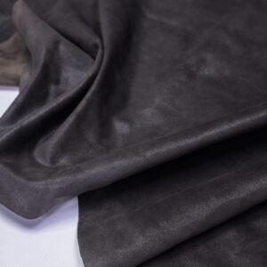Замша КРС, серый хаки блестящая, 83 дм2.-110708