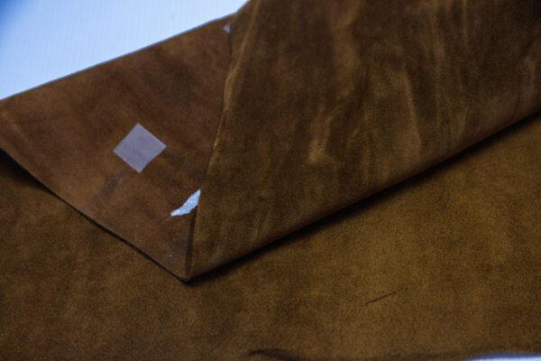 Замша КРС, коричневая, 27 дм2.-110709