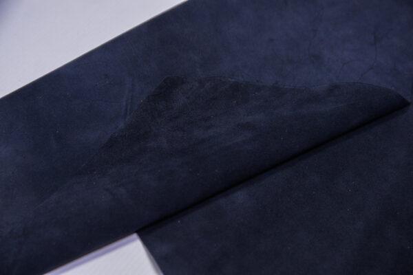 Замша КРС, синяя, 37 дм2.-110711