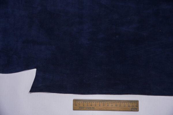Замша КРС, синяя, 72 дм2.-110712