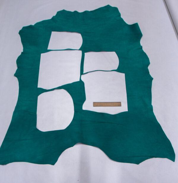 Нубук теленок, бирюзовая, 59 дм2., Bonaudo S.p.A.-110716