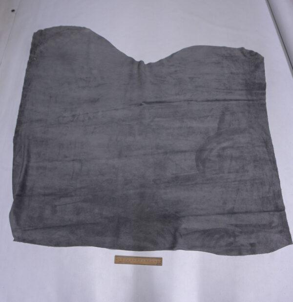 Замша-велюр КРС, серая, 97 дм2.-110729