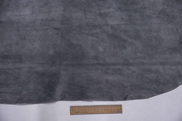 Замша-велюр КРС, серая, 101 дм2.-110731