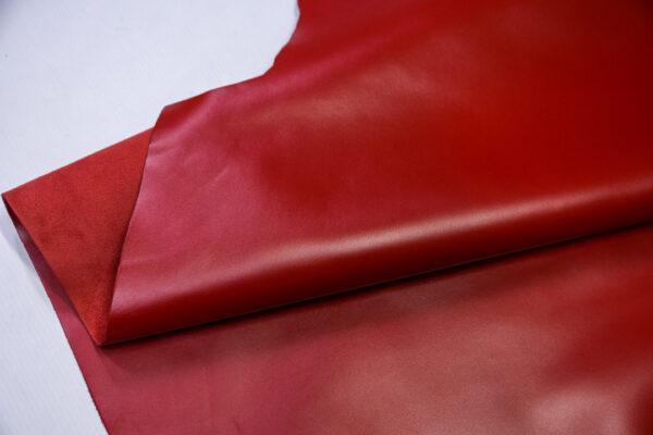Кожа КРС, красная, 213 дм2.- D1-742